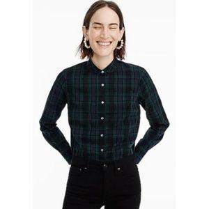 J. Crew The Perfect Shirt Green Black Plaid Shirt